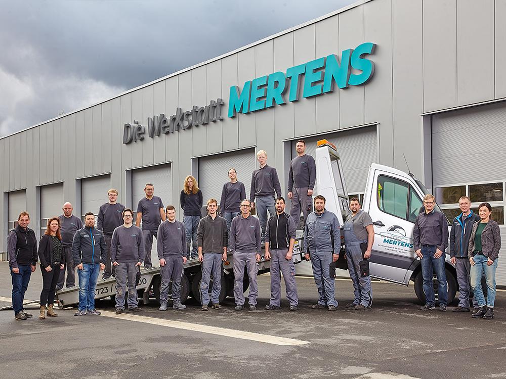 Die Werkstatt Mertens – Unsere Mitarbeiter